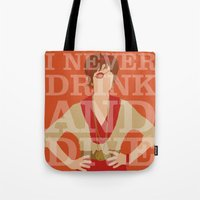 pushing daisies Tote Bags featuring Pushing Daisies - Lily by MacGuffin Designs