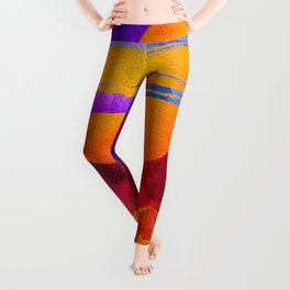 Colorful Outer Space Spaceship Leggings