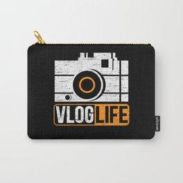 Vlog Life Vlogger Camera Social Media Influencer Carry-All Pouch