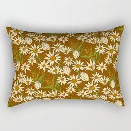 Flannel Flower Fields Rectangular Pillow