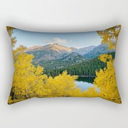 BEAR LAKE COLORADO AUTUMN PHOTO - ROCKY MOUNTAIN NATIONAL PARK FALL IMAGE- LANDSCAPE PHOTOGRAPHY Rectangular Pillow