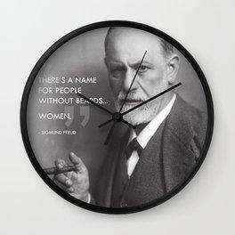 Sigmund Freud - Beards Wall Clock
