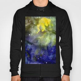 Wonderful cosmic galaxy watercolor artwork Hoody