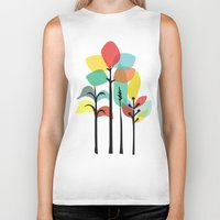 tropical Biker Tanks featuring Tropical Groove by Picomodi