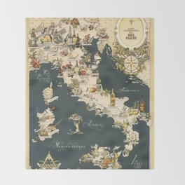 Vintage maps throw blankets society6 gastronomic map of italy 1949 throw blanket gumiabroncs Gallery