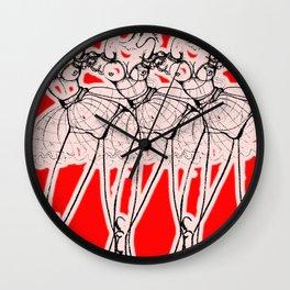 Red Revolution Wall Clock