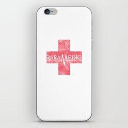 Paramedic Saving Lives Everyday EMT EMS Distressed iPhone Skin