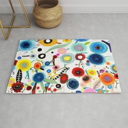 Rupydetequila whimsical floral art 2018 Rug