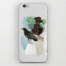 Girl&bird iPhone Skin