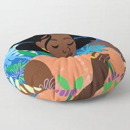 Aster in September Floor Pillow