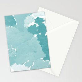 Aerin - abstract minimal painting decor for dorm college office gender neutral cool colors Stationery Cards
