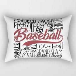 Baseball Typo Rectangular Pillow