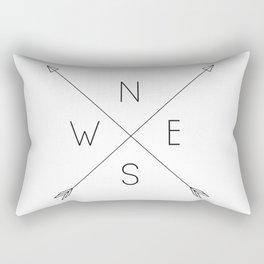 Geometric Minimal Compass Rectangular Pillow