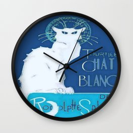Le Chat Blanc Wall Clock