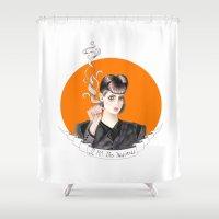 blade runner Shower Curtains featuring Blade Runner - Rachel by Sunol Golden