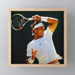 Nadal Tennis Over the Head Forehand Framed Mini Art Print
