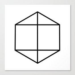 prism art . black line prism , decorative art prints for living room, Home Decor Graphicdesign Canvas Print
