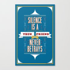 Silence Is Canvas Print