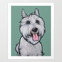 Levi the Miniature Schnauzer Art Print