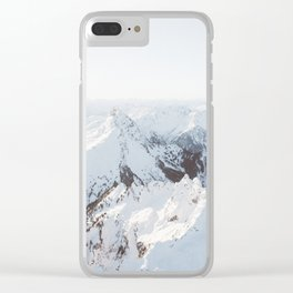 Snowy Mountains in Washington | Pt. 2 Clear iPhone Case