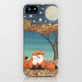cuddly foxes iPhone Case