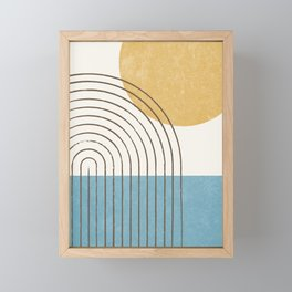 Sunny ocean Framed Mini Art Print