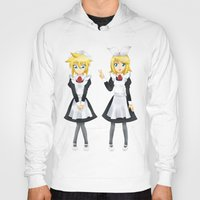 vocaloid Hoodies featuring Kagamine Twins by Amber Steel