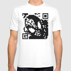 QR- Spiderman Mens Fitted Tee White MEDIUM