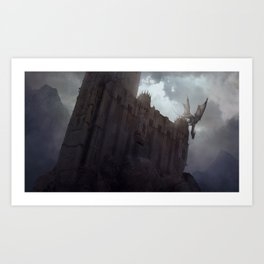 The Dragon on the Roof Art Print