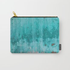 Weathered turquoise concrete wall texture Carry-All Pouch