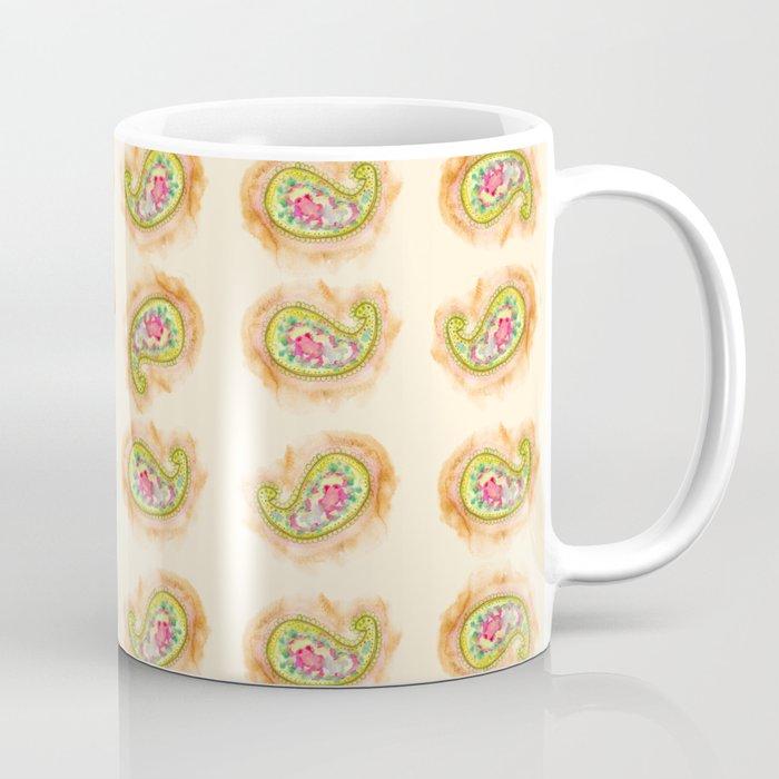 Paisley Watercolor in Tea (tan brown) Coffee Mug
