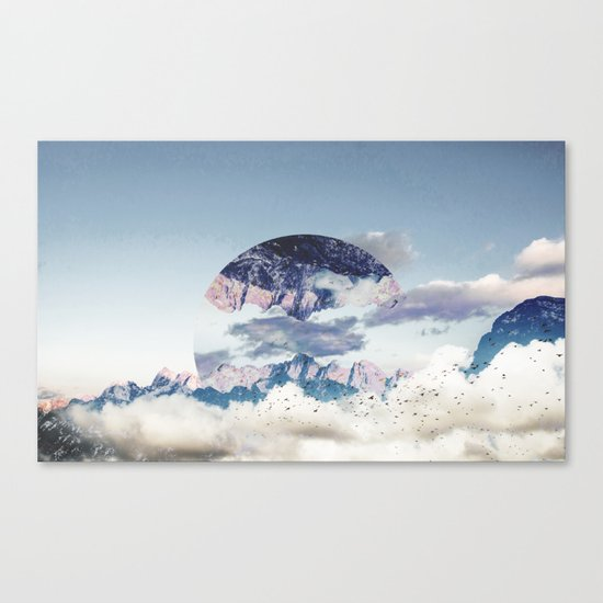 Abstract Mountains Canvas Print
