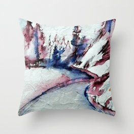 Snoqualmie Pass Throw Pillow