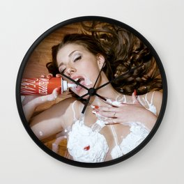 Whipped Cream Wall Clock