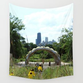 Garden View II Wall Tapestry