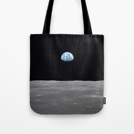 Earth rise over the Moon Tote Bag