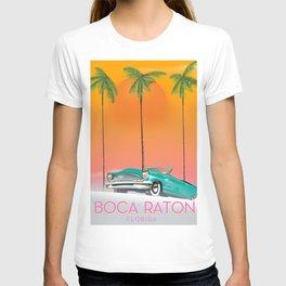 Boca Raton Florida travel poster T-shirt
