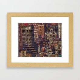 Wizard City, Lower Manhaddon, 1976 Framed Art Print
