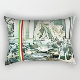 Italian Trevi fountain Rome Rectangular Pillow