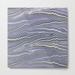 Electrified Ripples Lavender Metal Print