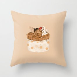 Rolled Ice Cream Throw Pillow