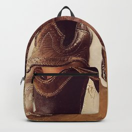 Cowboy Boots Backpack