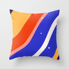 Whimsical waves Throw Pillow