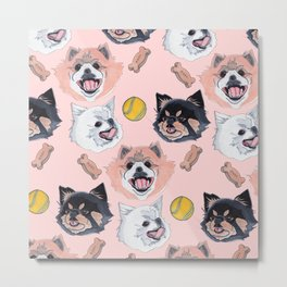 Pom Party Metal Print