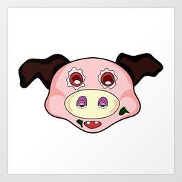 crazy pig Art Print