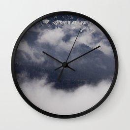 Cold Columbia Gorge Morning Staring Into Washington's Mountains Wall Clock