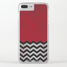 Twin Peaks - minimalist Red Room Clear iPhone Case