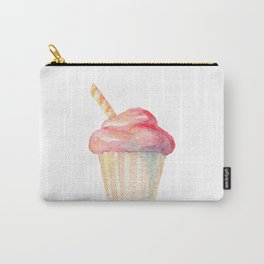Watercolor Ice Cream Pink Carry-All Pouch