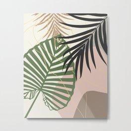 Minimal Tropical Palm Leaf Finesse #3 #tropical #decor #art #society6 Metal Print
