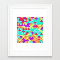 scales Framed Art Prints featuring Scales by White Wolf Wizard